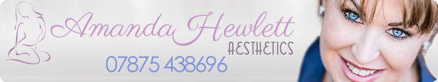 Advertising banner for Amanda Hewlett Aesthetics