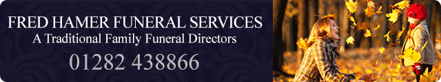 Advertising banner for Fred Hamer Funeral Directors