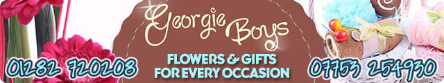Advertising banner for Georgie Boys Florist