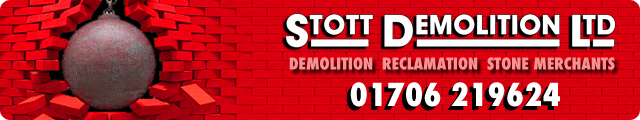Advertising banner for Stott Demolition